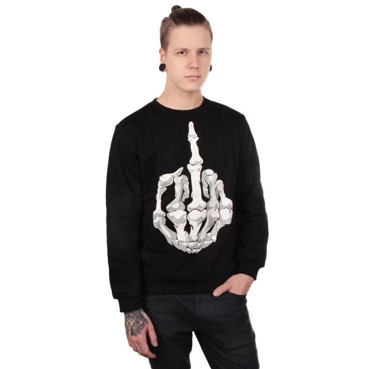 Cool skeleton finger sweater. You find it here! ---> http://www.cybershop.fi/product/10731/luuranko-sormi-paita