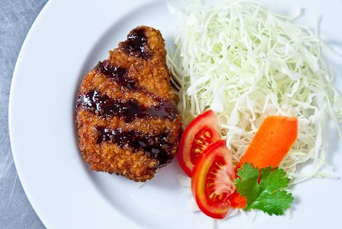 Tonkatsu - Japanese pork cutlet.. One of my all time favorite dishes ...