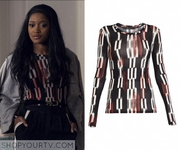 Scream Queens: Season 1 Episode 6 Zayday's Agda Long Sleeved Top