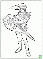 the legend of zelda coloring pages dinokidsorg