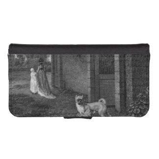 Pug het Zwart-witte Art. van Honden iPhone 5 Portemonnee Hoesjes