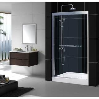 48 Inch Bypass Shower Door Is The Most Popular Size Of Sliding Doors  Offered On The Market. It Will Fit Most Bathrooms And Shower Rooms.