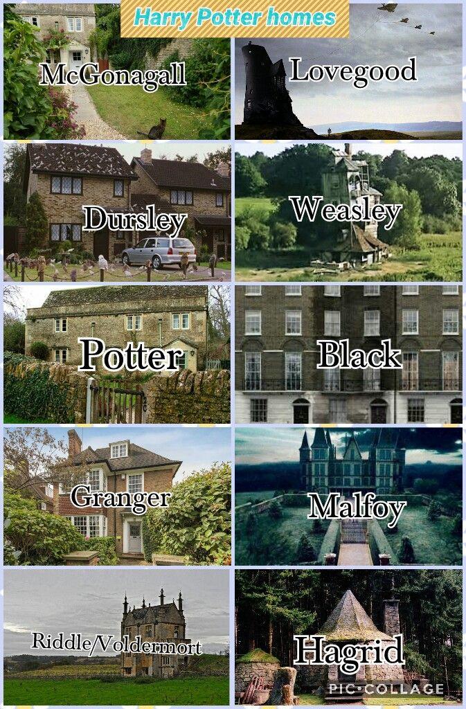 Harry Potter Homes Harry Potter Homes