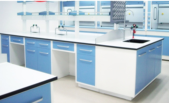 Cabinet Space: Wood v. Chemical Resistant Plastic Laminates