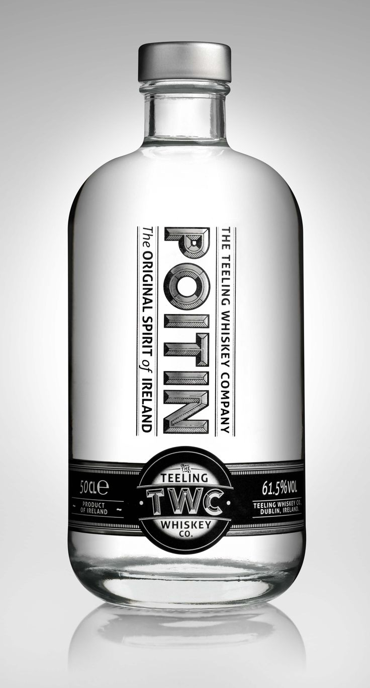 Poitin - Irish Whiskey | #whiskey #bottledesign #packaging