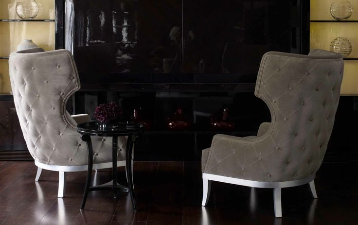 Modern Georgian wing chairs by Christopher Guy