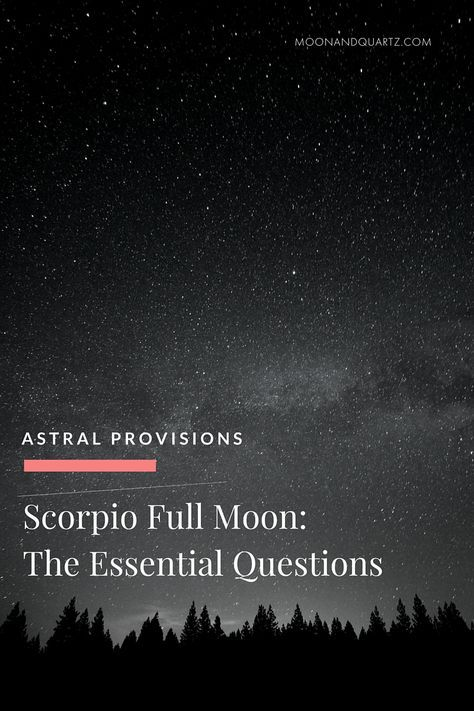 The real test of the Scorpio Full Moon isn't the fact that it will  illuminate those places we typically prefer to keep hidden — that's a  given. The real test will come with what we do, how we handle ourselves, in  response to our exposure to the  deeper psychic motivations coming to the  surface.  The Moon Guides for the Scorpio Full Moon are live for each of the twelve  signs, detailing an enhanced Full Moon ritual and each sign can most  effectively focus their efforts. A full breakdown…