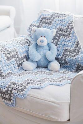 Bernat® Baby Coordinates™ Ripple Waves Crochet Blanket, large