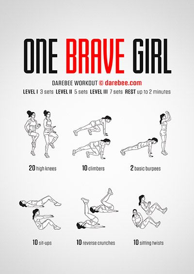 One Brave Girl PDF Darebee workout – Healthiness