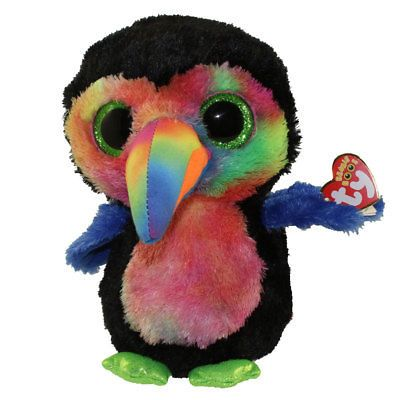4bdab4f8e19 Current 438  Ty Beanie Boos 9 Medium Stuffed Plush Beaks The Toucan Mwmts  New W Heart Tags -  BUY IT NOW ONLY   10.95 on eBay!