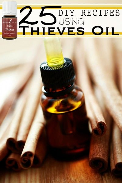 Thieves Essential Oil Blend is handy. There are a myriad of ways you can use Thieves oil, and many different products you can make to use. 25 DIY Recipes Using Thieves Essential Oil