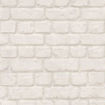 Brick (226706) - Albany Wallpapers - A realistic looking brick effect wallpaper in a soft white colourway - perfect for a contemporary look.  Other colours available. Please request sample for true colour match.