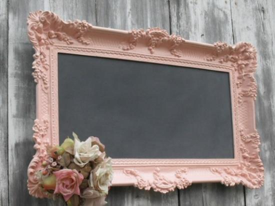 so cuteVintage Wedding, Chalkboards Painting, Shabby Chic, Menu Boards, Girls Room, Chalk Boards, Vintage Frames, Old Frames, Pictures Frames