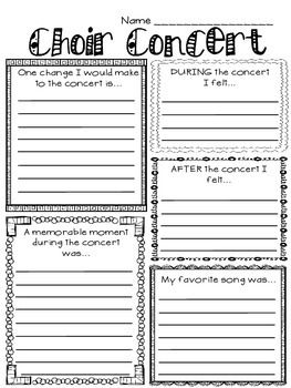 MUSIC PERFORMANCE SELF-EVALUATION, CHOIR - TeachersPayTeachers.com
