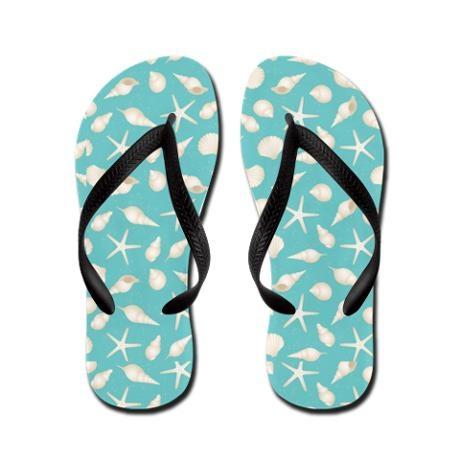 Beach Sea Shell Flip Flops: Flip Flops Flats, Shells Flip