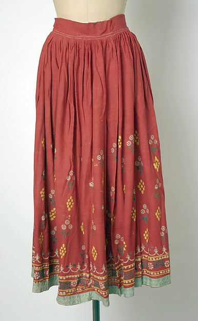 Skirt. 20th century. Culture: Indian