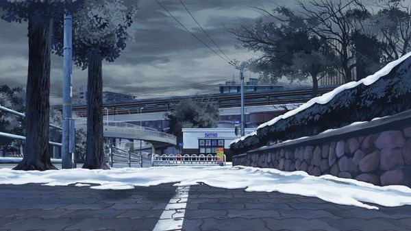 Anime scenery-snow | Anime backgrounds | Pinterest | Anime ...