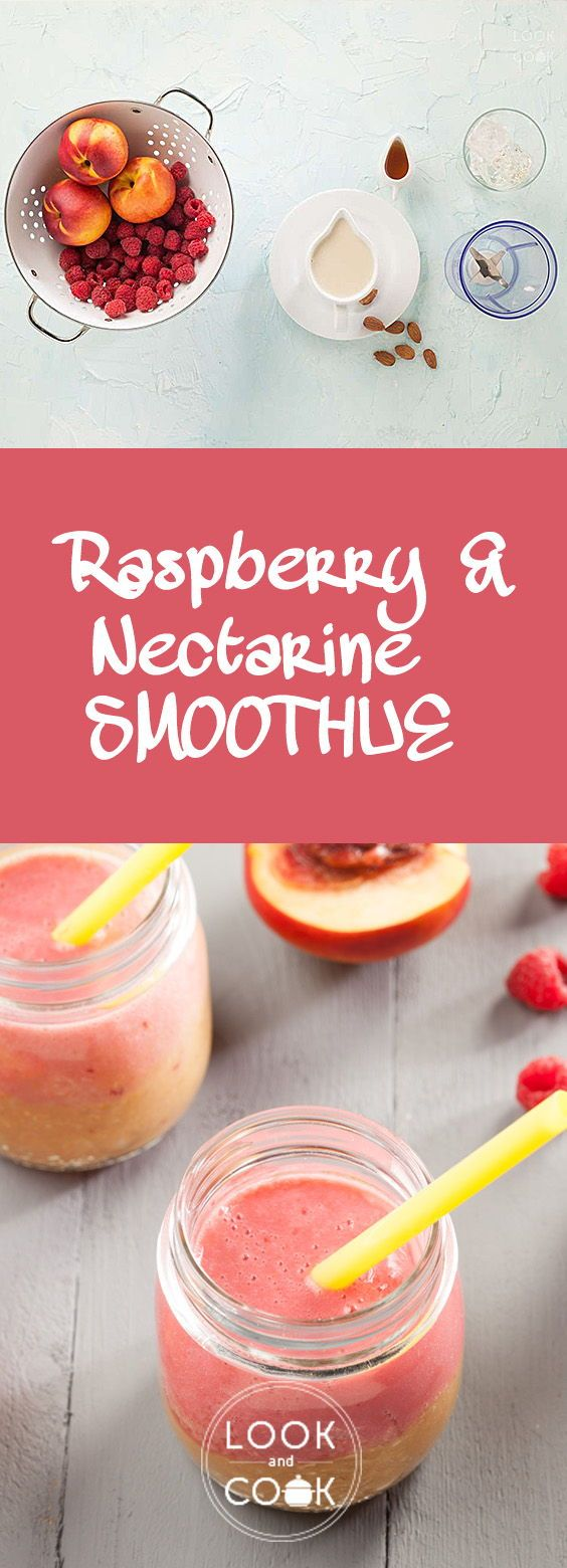 RASPBERRY AND NECTARINE SMOOTHIE (LC14283) - If you love sipping on fruit smoothies then this Raspberry and Nectarine Smoothie is a must try. It is a colourful drink that is healthy and nutritous.