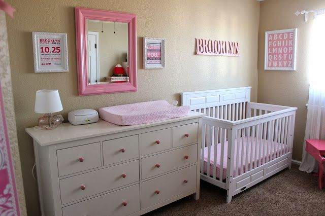 Baby Girl Nursery  www.themilehighmom.com
