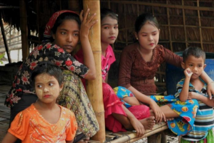 Rohingya woman Arafa and her family are trapped in a camp outside of Sittwe, Myanmar