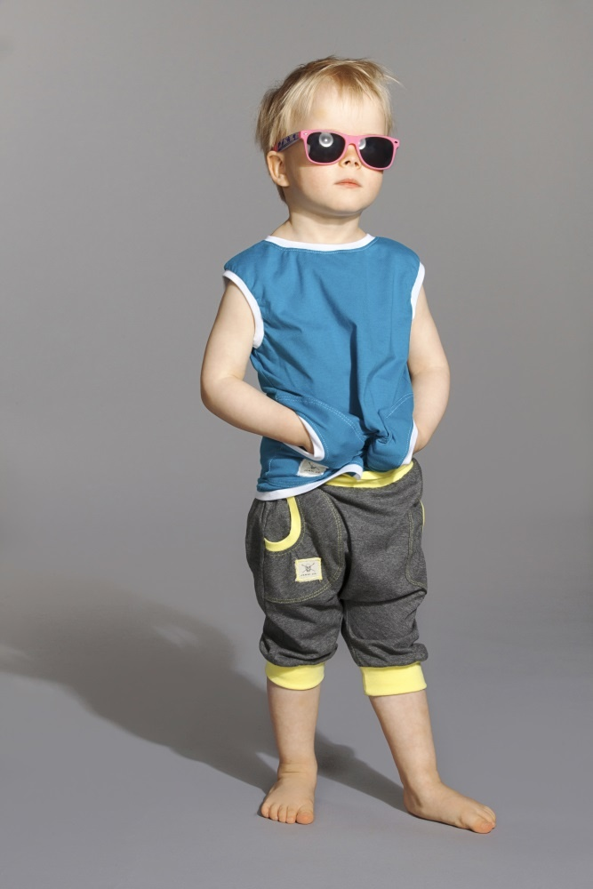 Short Pants- DGray/Lemon Shirt Two- Turquoice/White