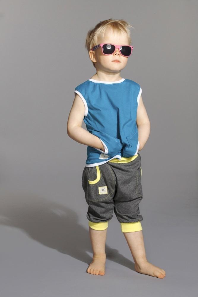 Short Pants- DGray/Lemon Shirt Two- Turquoice/White