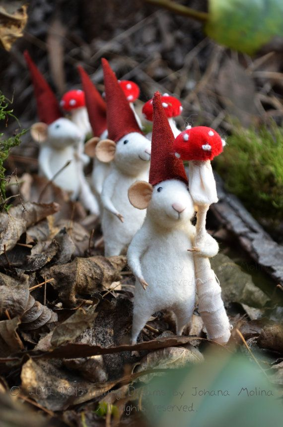 Little Gnome Mouse  Felting Dreams  READY TO SHIP by feltingdreams, $88.00