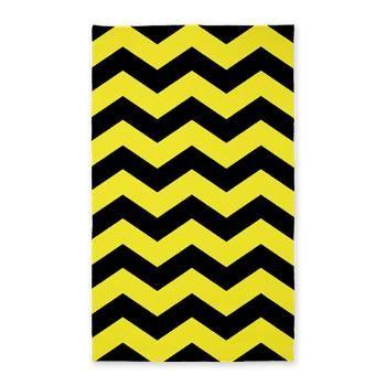 3 X5 Black And Yellow Chevron Rug Rugs Pinterest