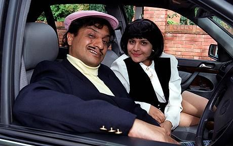 """Kulvinder Ghir and Nina Wadia as """"The Coopers"""" (i.e. the Kumars) in 'Goodness Gracious Me' - one of the funniest TV-series evah!"""