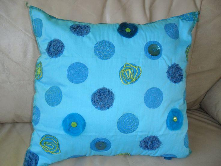 Bleu pillow