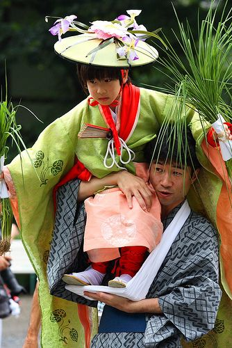 Cute, Cute, Cute!!! - Being taken to the Rice Planting Festival - Otauesai-Matsuo Shrine-01 KYOTO JAPAN