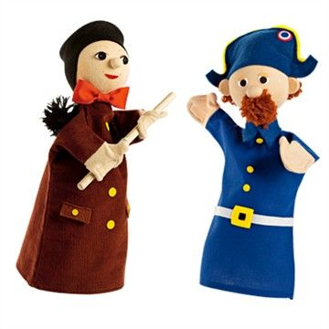 Duo de marionnettes Guignol et gendarme