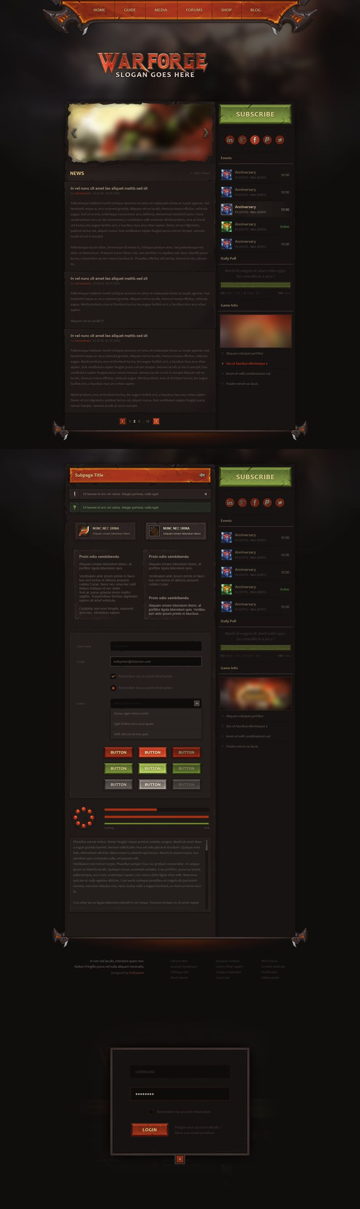 Warforge - Game Website Design by Evil-S on DeviantArt