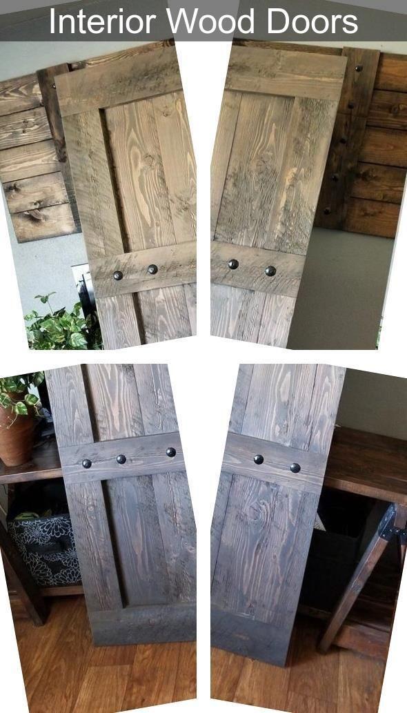 8 Foot Interior Doors  Solid Core Wood Door  2 Panel Pine Interior Doors in 2020  Wooden