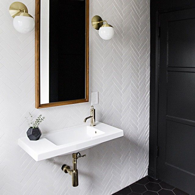 still in complete baby land amazement but heads up there's a bathroom renovation progress post on the blog this week. #finishedinthenickoftime #samuelhomerenovation (link in profile)