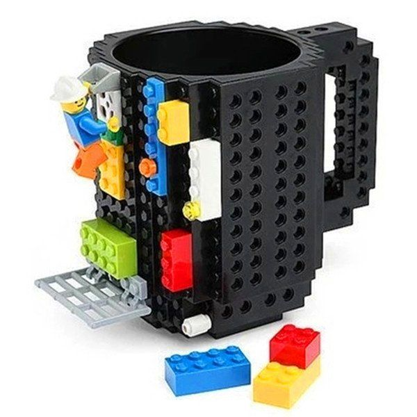 Build-on Brick Mug (Individual bricks not included) It's a coffee mug & construction set in one! Compatible with LEGO TM and others. Holds approximately 12 oz. Made of BPA-free Plastic Click the Add T