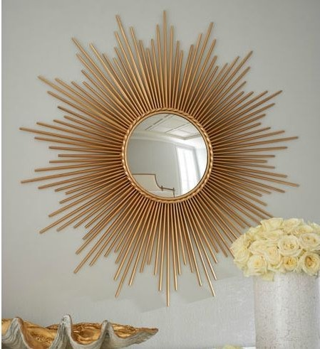 7 super-size sunburst mirrors