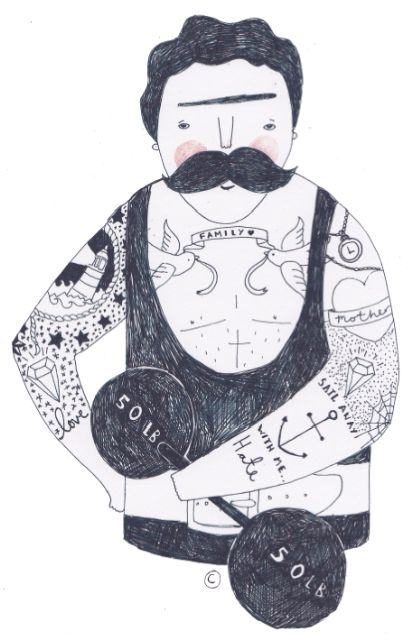 tattoo men - Ella Masters
