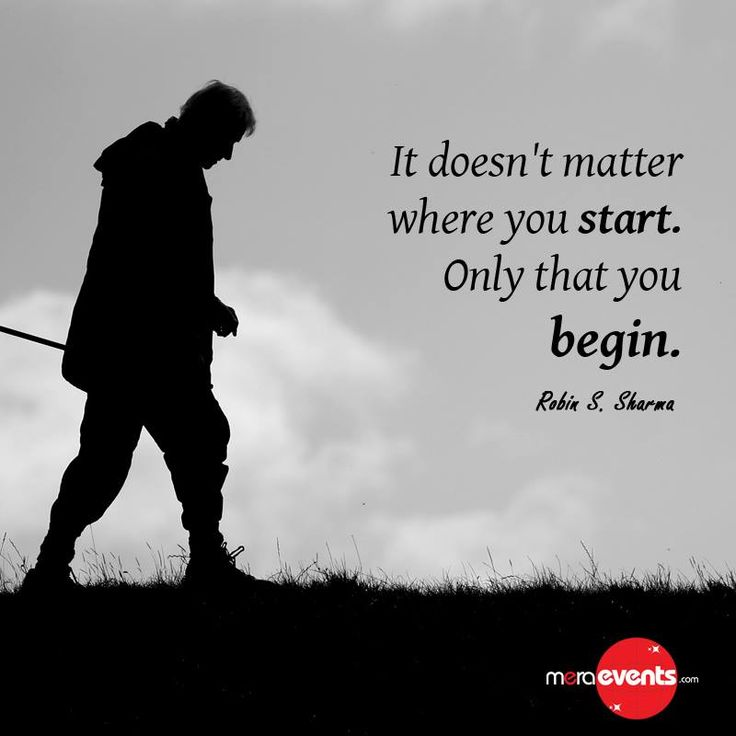 It doesn't matter where you start .. Only where you begin #MerEvents #Begin