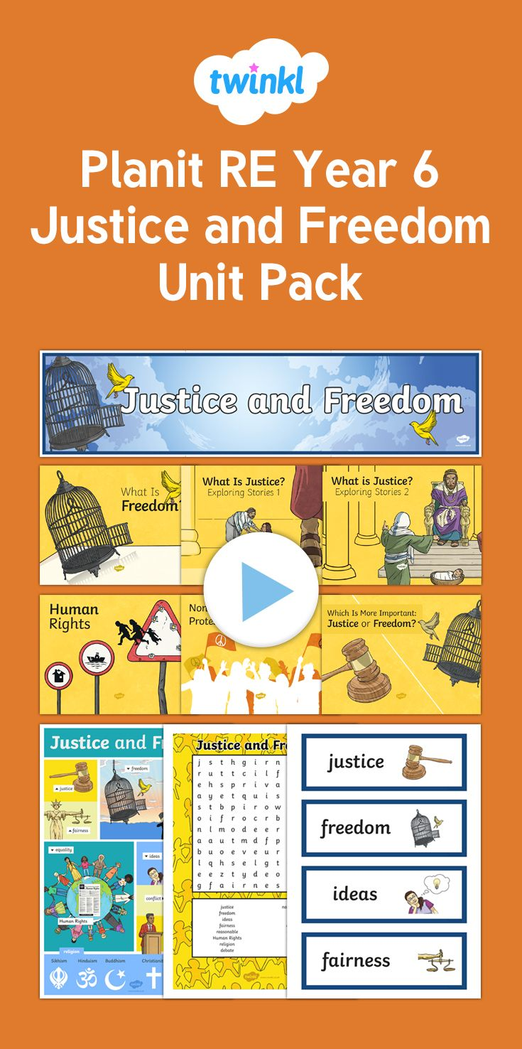 Justice and Freedom Unit Pack - This brilliant unit pack includes all the  lesson packs and