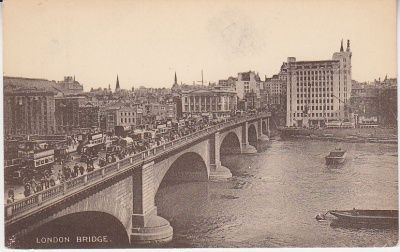 C F Castle postcard - London Bridge