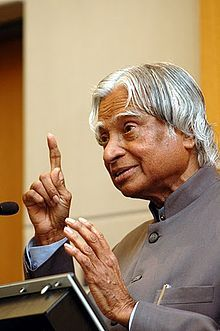 Avul Pakir Jainulabdeen Abdul Kalam  usually referred to as A. P. J. Abdul Kalam, is an Indian scientist and administrator who served as the 11th President of India.