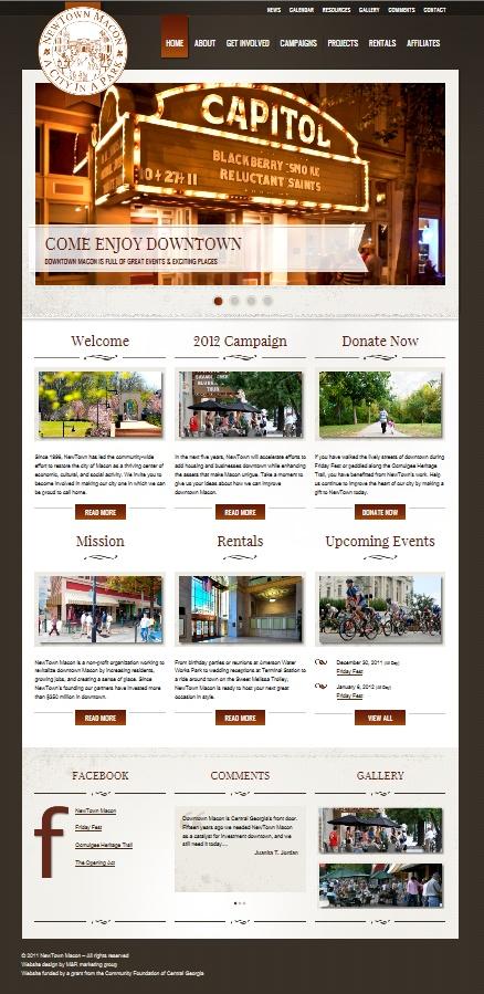 Newtown Macon Website Design. Website Design. Marketing.