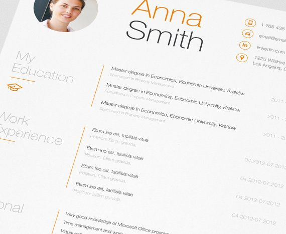 49 Best Images About Resume Templates On Pinterest | Business