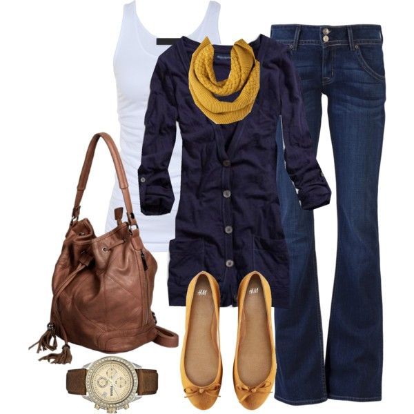 Everyday OutfitDaily Outfit, Colors Combos, Fashion, Casual Outfit, Clothing Style, Jeans, Fall Outfit, The Navy, Mustard Yellow