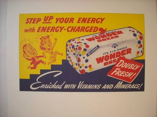 Step up your energy with energy charged wonder bread