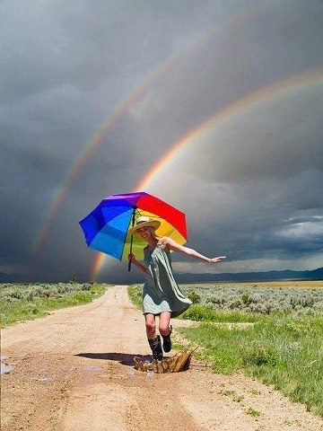 Somewhere under the rainbow....