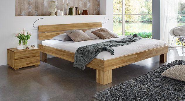 Bett mit Bettkasten 160x200 cm aus Buche - Maidstone