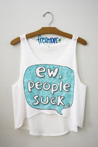 Ew People Suck Crop Top | fresh-tops.com