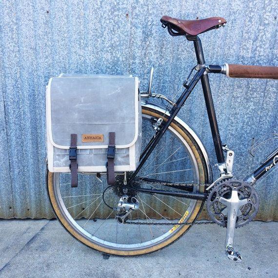 SALE Grey commuter pannier, cycling messenger bag